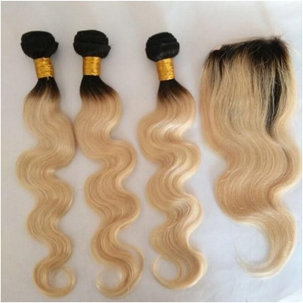 Hunni B Glam Blonde Bodywave 1B/613