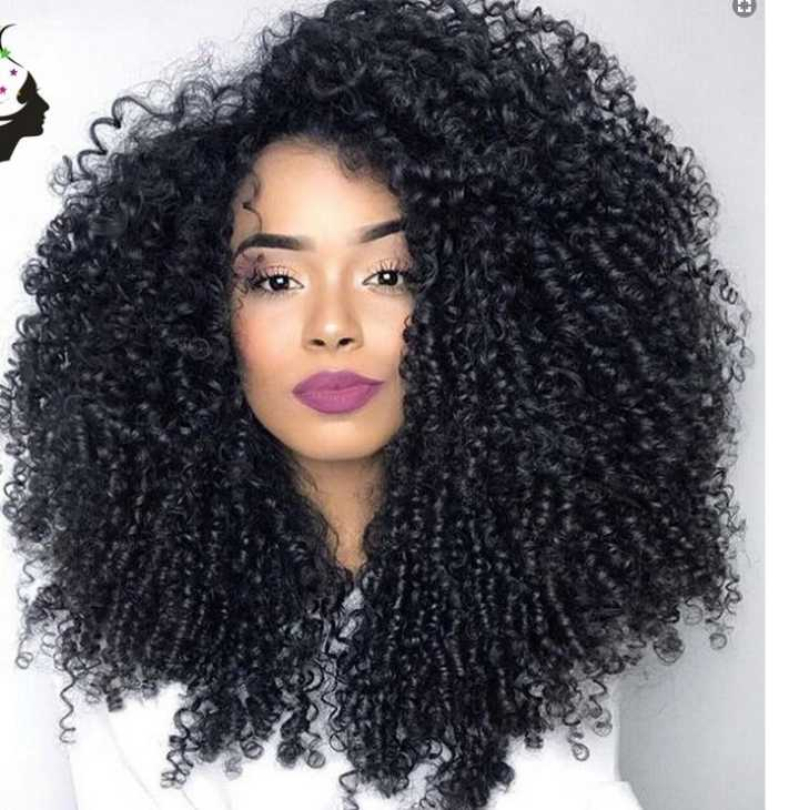 Hunni B Natural Big Kinky Curly Lace Unit